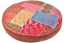 Sari Round Pillow