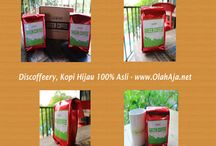 Discoffeery, Kopi Hijau 100% Asli / papan ini tentang merk discoffeery merupakan kopi hijau 100% asli berkualitas.