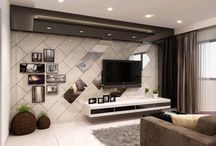 tv wall living room