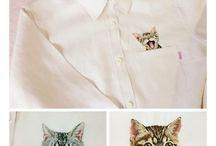 gatitos bordados