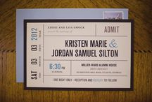 Invitations / Wedding invitations don't all have to be white or ivory anymore!