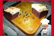 Brownie de chocolate y queso