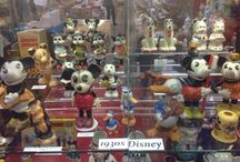 "1930s Disneyana / doing Antique Shows on West Coast, ""Ron'z Whimziculls"", selling whimsical porcelains, including early original Disney pieces"