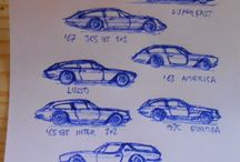 My sketches and drawings unsorted / Automotive design sketches custom hot rod bikes trikes muscle cars streetmachines etc Rough sketches with notes... Modelling ideas...