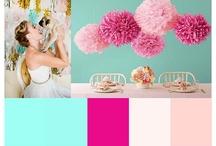 Hochzeit pink türkis