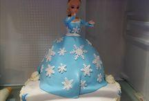 Gateau Reine des Neiges / Réalisation d'un gâteau pour les 4 Ans de ma petite fille