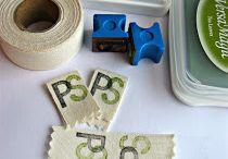 DIY Labels / Label ideas - stamp it !