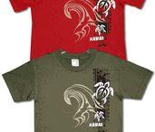 T-Shirts Hawaiian unisex Sweatshirts, Tank Tops / Some of the screen printed in Honolulu premium cotton T-shirts