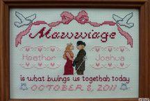 Cross Stitch - Wedding / by Angela Wall