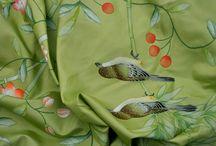 hand painted silk fabrics