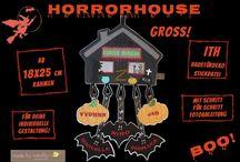 Made by cataffo ❤ Stickdatei für die Horrorfreunde!! ❤ / ❤ Ende Oktober hängt bei uns dieses Haus an der Eingangstür ❤