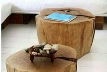 Taburet lemn