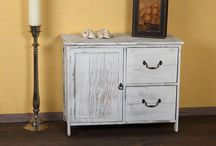 Meubeltjes / Romantische / landelijke / vintage look meubeltjes die wij in de webshop verkopen  http://www.izelo.com/wonen/woonkamer-eetkamer/dressoirs-kasten