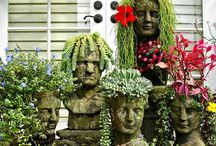 Backyard - Container Gardening / Fun Items to use as Planters / by Barbara Miller