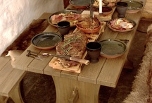 (medieval) table setting