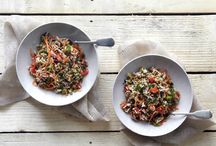Φακές με ρύζι και λαχανικά / Ένα πλήρες γεύμα με φάκες, ρύζι και λαχανικά