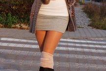 Winter fashion / Гольфины, юбки, свитера, вязанные платья