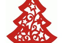 Silhouette Christmas / ❤️ scrapbooking, scrap, papercrafts, DIY, Shilhouette designs, Cameo, Curio, Portrait, Christmas ❤️