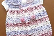 Assorted baby girl crochet stuff