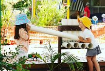 Outdoor play - recycled materials