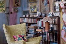 Dramatic Walls: Being / Painted, wallpapered, and textured wall spaces