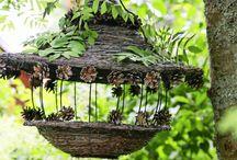 Gartendeco mit Birkenreisig
