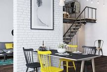 Industrial Interior Design / Industrial interior design ideas and inspiration for living rooms, bathrooms, offices and more. Industrial decor, lighting and furniture.