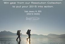 Resolution Challenge / Get inspired to put your resolution into action. Take the challenge and you could win gear from our Resolution Collection! #takethechallenge15 Visit for contest details: http://bit.ly/TakeTheChallenge15 / by Sport Chalet