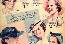 Vintage trends / 1930's 40's and 50's clothing, shoes, hairstyles, hats etc