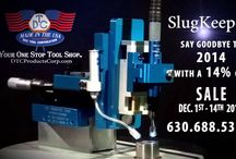 SlugKeeper 2014 Sale / END 2014 & END SLUG PULLING FOREVER: From 12-1-2014 to 12-14-2014 you can stop pulling slugs in your dies and save 14%. Yes say goodbye to 2014 and take the biggest discount ever offered on DTC Products SLUG RETENTION MACHINE!!! 14%. You save $826 on your 1st machine. Check it out , let us know you saw this when ordering.