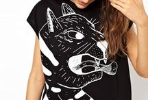 Illustration : : clothes and fabric / Illustrated fabric, dresses, t-shirts, fabric, fashion, cool, design