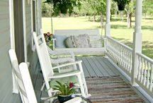 Porch swings and rocking chairs