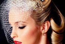 rockabilly bridal hair birdcage