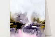 Akvarel abstrakt