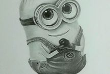 cute paint minion
