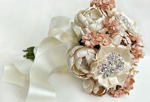 Gelin buketi / Bride-groom-buket-çiçek-floral-flower-fabric