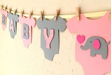 tortas para baby shower niña elefante