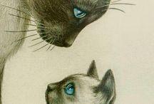 Artă cu pisici