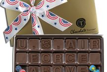 MILITARY / ChocolateText chocolate message boxes for military personnel, veterans, their family and friends. Choose a pre-made message for any occasion, or design a custom box! https://www.chocolatetext.com/ready-made/?category=Military