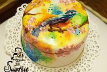 Kézzel festett torták - Hand painted Cakes