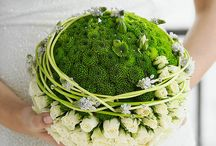 Button Chrysanthemum Wedding Flowers / Small, tightly petaled chrysanthem in white, bright green, and lavender.  Can be tinted with Design Master spray.  Beautiful in corsages, boutonnieres, centerpieces, bridal bouquets and other wedding flowers.  Buy in single bunches - other floral supplies available.  Free flower tutorials for making wedding flowers.