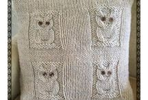 knitted owl cover