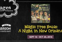 """Magic Tree House: A Night in New Orleans / Stages Theatre Company presents Magic Tree House: A Night in New Orleans - Sept 16 – Oct 20, 2016 • All Ages • Twin Cities Premiere!  Book and lyrics by Will Osborne and Murray Horwitz. Music and additional lyrics by Allen Toussaint. Based on """"MAGIC TREE HOUSE #42: A Good Night for Ghosts,"""" by Mary Pope Osborne."""