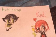 My  Buttercup and Cotton Candy  x Red drawings / Buttercup and Cotton Candy and Red would be a toughest couples