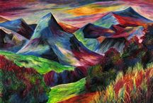 moutain painting
