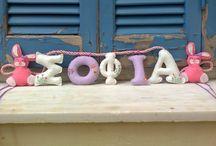 my felt name garlands / Name garlands I 've made with felt to decorate kids rooms