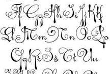 Skrift - Writing / Handskrift, calligrafi og alfabet