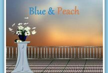 Blue and Peach