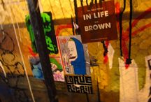 """""""The Best Things in Life Are Brown"""" sightings. / Whenever you get one of our funky desi t-shirts we send one of our awesome stickers. and what do our fans do? They stick them in awesome places and send us the images. these are sent from all around the world."""