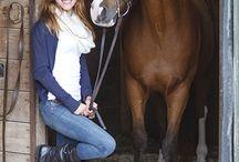 Senior Portraits ~ With Horses Posing